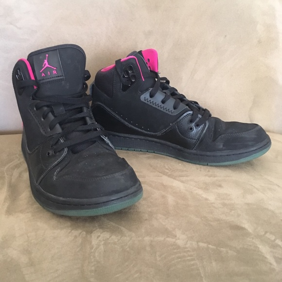 famous brand cheap recognized brands NIKE Air Jordan 1 Flight 2 Black and Pink